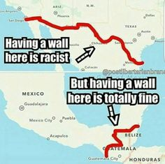 This Map Destroys Liberal Argument That Border Security Is Racist - US Chronicle Truth Hurts, It Hurts, Liberal Logic, Stupid Liberals, Liberal Hypocrisy, We The People, In This World, Wisdom, Thoughts