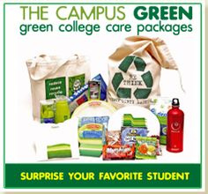 Greensender.com offers college care packages an original, useful and eco-minded alternative to the traditional packages.