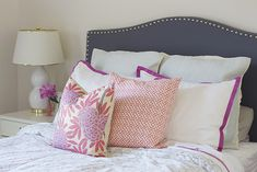 Serena & Lily bedding + Caitlin Wilson Textile pillows. #bedding #duvetcover