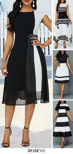 Casual Summer Outfits, Classy Outfits, Fall Dresses, Cute Dresses, Women's Fashion Dresses, Dress Outfits, Latest Fashion For Women, Womens Fashion, Dress Picture