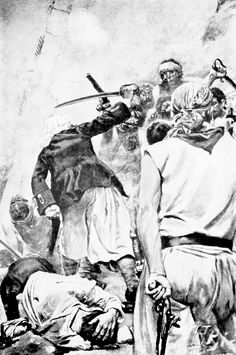 """The combatants cut and slashed with savage fury. From 'Jack Ballister's Fortunes', """"Howard Pyle's Book of Pirates"""" (1921)"""