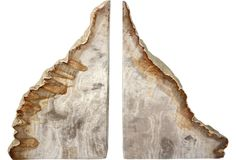 Petrified Wood Bookends - One Kings Lane - Vintage & Market Finds - Decorative Accessories