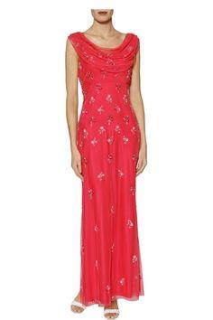 Sophia Pink Beaded Maxi Dress   Gina Bacconi
