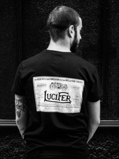 Camiseta Lucifer Motorcycles para hombres con cartel vintage en francés - 100% algodón - made in spain. Motorcycle Shop, Classic, Mens Tops, T Shirt, Vintage Posters, T Shirts, Men, Derby, Supreme T Shirt