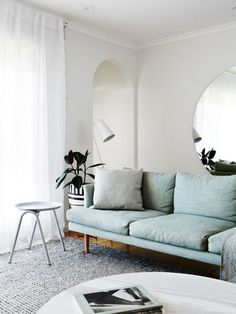 Mint coloured couch