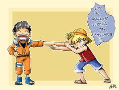 Naruto One Piece crossover