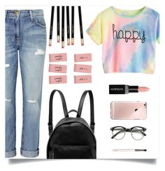 """Colorful Back To School Set"" by clarinetist14 ❤ liked on Polyvore featuring Current/Elliott, STELLA McCARTNEY, Smashbox and Chantecaille"