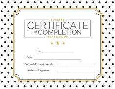 certificate of completion for ms word download at http