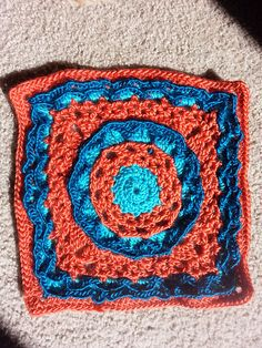 """Ravelry: tinafos' Anticipation Mystery Afghan 12"""" block"""