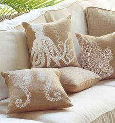 rustic beach decor - burlap