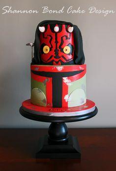 Shannon Bond Cake Design/ Darth Birthday Cake/ www.sbcakedesign.com