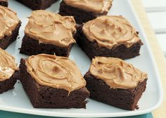Chocolate brownies with peanut butter frosting from Bon Appetit blog.