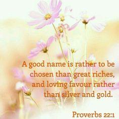 Proverbs 22:1 KJV