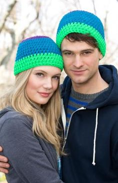 T(hat's) Cool Hat Pattern - RED HEART® Head's Up™ Yarn (80% acrylic, 20% wool blend) This yarn has a great hand and stitch definition.  Perfect for warm hats, accessories  and all types of projects.