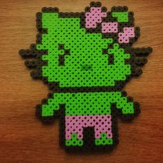 Hulk Hello Kitty perler beads by rocket_town_crafts