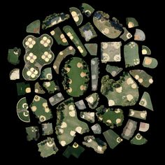 Every Baseball Diamond in Manhattan, from Satellite Collections by Jenny Odell Google Satellite Images, Manhattan, Blog Art, Beautiful Collage, Birds Eye View, Textile Artists, Cartography, Map Art, Aerial View
