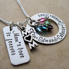 Mom's Love Is Forever Tag and Loop Necklace