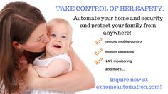 Keep your loved ones safe from ANYWHERE with a fully customizable smart security system!  No activation fee and new, lower monthly service fees for residential and even business customers!  $39.99 for Smart Security complete wireless home security $49.99 for Smart Home security + smart home features including video, door locks, thermostat, remote access and more...  For inquiries http://ezhomeautomation.com/smart-home-security-system/?SVFBS1 .