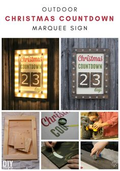 Giant Outdoor Christmas Countdown with Lights, over 3 feet tall. What better way to countdown to Christmas than with a Giant Outdoor Christmas Countdown Marquee Sign. Check out the tutorial to make one too! Christmas Countdown, Christmas Signs, Rustic Christmas, All Things Christmas, Christmas Holidays, Christmas Crafts, Christmas Ideas, Christmas Activities, Christmas Traditions
