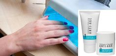 Gel Manicures are great but the UV light can cause age spots on the back of your hands! Protect your hands during a Manicure by using sunblock such as the Rodan & Fields Anti-Age Hand Duo Regimen. Ask me about it.  The nail salon I go to purchased these for each technician ..does your salon offer this protection ?  www.julieshook.myrandf.com