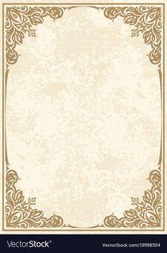 Retro-styled frame vector image on VectorStock Flower Background Wallpaper, Background Vintage, Flower Backgrounds, Wallpaper Backgrounds, Wedding Invitation Background, Wedding Invitation Card Design, Invitation Mockup, Birthday Background, Invitation Cards