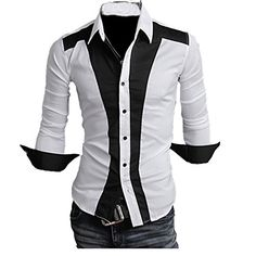 Partiss Mens Slim Fit Contrast Color Shirt, M, White Partiss http://www.amazon.com/dp/B00U8TS2P8/ref=cm_sw_r_pi_dp_l479ub1BFXS2T