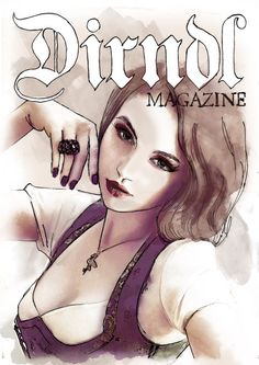 Malstunde in der Dirndl Magazine Redaktion ;-)