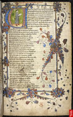 Geoffrey Chaucer, The Canterbury Tales, 14th century ~ British Library