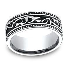 Men's Cobalt 8.5-millimeter Ring (Sz 09.5), Size: 9.5, White