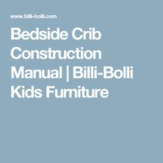 Bedside Crib Construction Manual | Billi-Bolli Kids Furniture