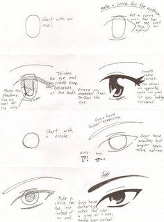 How To Draw Manga: Eyes by KaiyaOtaku1 on deviantART
