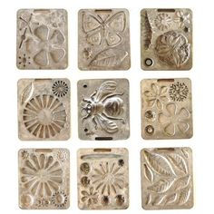A touch of Spring!  Metal flower molds... Fun to display in a curio cabinet or use to make clay flowers.  So many possibilities!
