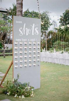 Modern Black + White Bali Wedding at Arnalaya Beach House : sitzplan Bali Wedding, Wedding Signs, Diy Wedding, Wedding Ceremony, Dream Wedding, Wedding Ideas, Wedding Blog, Wedding White, Wedding House