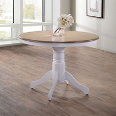 Small Round Dining Table Shabby Chic Furniture Solid Wood French Kitchen Room   | eBay