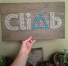 Climb String Art Sign Hiking Sign Rock by CrookedTreeTraders