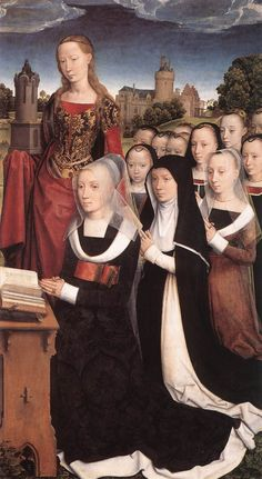 Triptych of the Family Moreel (right wing detail) 1484 by Hans Memling