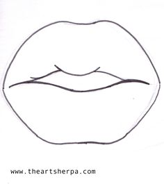 Lip traceable for the Art sherpa #lisafrankinspired Collaboration www.theartsherpa.com
