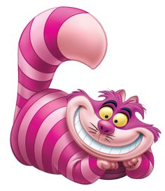 The Cheshire Cat is a mysterious pink and purple striped cat with a devious, mischievous personality in the 1951 Disney animated feature film Alice in Wonderland. The Cheshire Cat has a permanent smile on his face and can disappear at will. He is a very odd being able to reshape his body to either amuse or frighten his visitors. He's very mysterious, and in his own way, very dark. Like all members of Wonderland, he is mad, but unlike the others, he admits it with pride. All of…