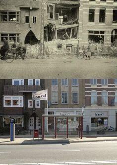 Tijdens een Duits bombardement op 19 september 1944 slaat een bom in op de St.Annastraat 237 (5 doden)