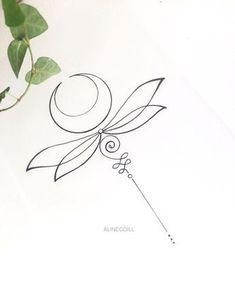 • L I B É L U L A • #libelula #dragonfly #unalome #unalometattoo #rustictattoo #tattoo #finelinetattoo #fineline #alinecoill Do not copy…
