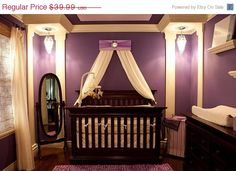 Cute purple baby girl's room.
