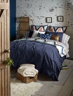 Harper Navy 3 Piece Duvet Set Full  Queen -- Learn more by visiting the image link.