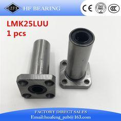 3d printer bearing 1pcs LMK25LUU 25mm round flange linear ball bearing bushing for linear guide rail rod round shaft cnc part #Affiliate