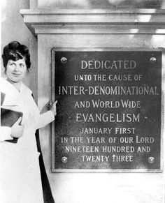 This month in history: The very first Foursquare church, Angelus Temple, was opened on January 1, 1923, by evangelist Aimee Semple McPherson.