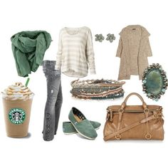 I don't really like the outfit so much i just think it's funny that the starbucks is part of the outfit! haha