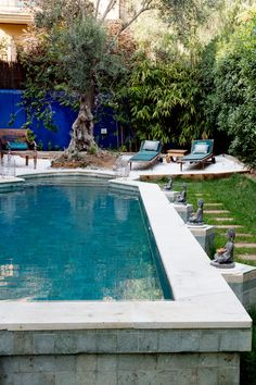 Bohemian home with a taste of Morocco - Comfortable home Outdoor Life, Outdoor Spaces, Outdoor Gardens, Indoor Outdoor, Outdoor Living, Rectangular Pool, Swimming Pools Backyard, Swimming Holes, Small Pools