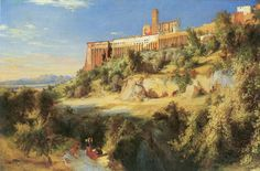 View in Assisi by Carl Blechen
