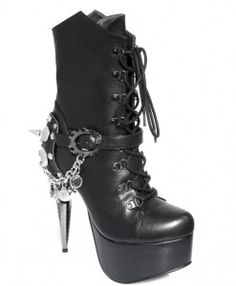 Hades Footwear Envy boot. Lace up embellished boot.