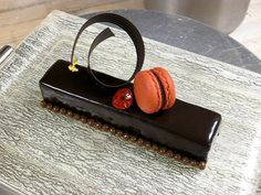 Chocolate Bar.........by Pastry Chef Antonio Bachour (St. Regis Bal Harbour). Dessert plate by Glass Studio