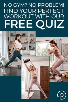 Take our fitness quiz assessment to receive your personalized workout and equipment recommendation from P. Lazy Girl Workout, Bed Workout, Fitness Workout For Women, Fitness Tips, Workout Plans, Fitness Motivation, Thinner Thighs, Low Impact Workout, Back Exercises